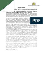 Nota de Prensa - JOSE LEON