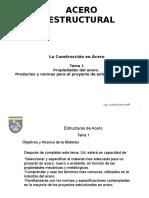Estructuras de Acero Tema 1 Rev 2014