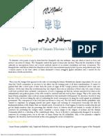 The Spirit of Imam Husain's Martyrdom