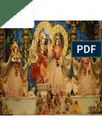 Deities at the New Giridhari Temple in Mumbai, India