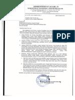 Surat Pelaksanaan Keaktifan Data Pendidik Dan Tenaga Kependidikan
