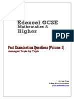 GCSE Past Examination Questions Volume (1)