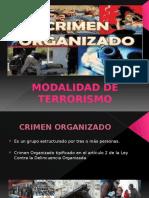Presentacion Del Crimen Organizado Modalidad Terrorismo