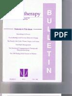 Psychotherapy Bulletin 30 (3) Fall 1995