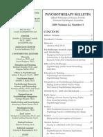 Psychotherapy Bulletin 44 (3) Summer 2009