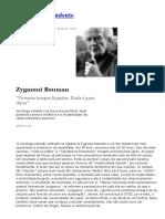 Entrevista Com Zygmunt Bauman