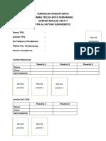Formulir Pendaftaran Lomba Eksternal
