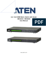 ATEN VM5404H / VM5808H User manual