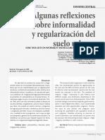 Algunas Reflexiones Sobre Informalidad y Regularizacion_Suelo Urbano