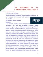 Margen de Maniobra de Los Gobiernos Argentinos entre 1942 y 1955