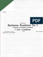 Villalobos Bachianas Brasileras 5 Cello 7&8