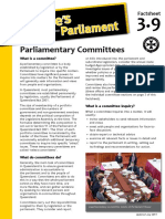 Factsheet 3.9 ParliamentaryCommittees