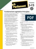 Factsheet 3.23 FundamentalLegislativePrinciples