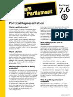 Factsheet 7.6 PoliticalRepresentation