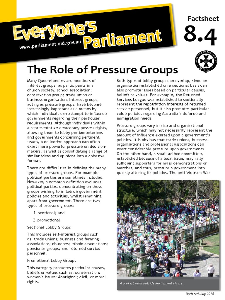 examples of interest groups influencing government