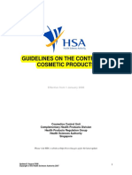Guidelines on the Control of Cosmetic Products