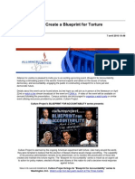 Get Involved. Help Create a Blueprint for Torture Accountability.