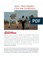 Liberal Pluralism, Tamil People's Council and the New Constitution
