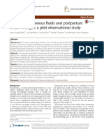 Maternal Intravenous Fluids and Postpartaum Breast Changes a Pilot Observational Studyss