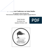 40th Southwest Conference on Asian Studies