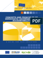Concepts and Principles of Democratic Governance and Accountability