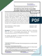 SEBI- Non-Convertible Debt Securities & Non-Convertible Redeemable Preference Shares