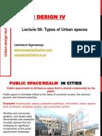 Types of Public Spaces