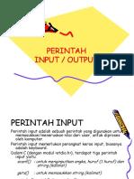 3 Perintah Input Output