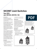 23.SICONT Limit Switches Type 3SE3 Upto 500V