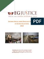 Informe Sobre DDHH en Guinea Ecuatorial 2015