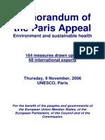 Memorandum of the Paris Appeal -2006
