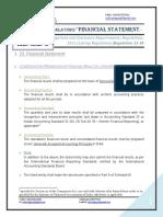 SEBI- Financial Statement