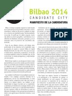 Bilbao World Design Capital 2014 Manifiesto de la Candidatura