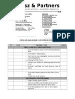 0) Check List Poa