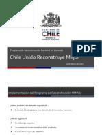 Procedimiento de Programa de Reconstruccion Nacional en Vivienda