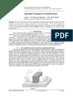 Modelling Quantum Transport in Nanostructures