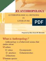 Anthropological Criticism in Literature