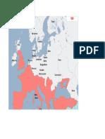 Harta Europa anul 160d.H.