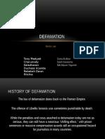 Defamation Presentation