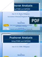 Pushover Analysis using ETABS and SAP2000