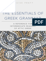 The Essentials of Greek Grammar - A Reference for Intermediate Readers of Attic Greek