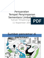 Materi Training Persyaratan TPS Limbah B3