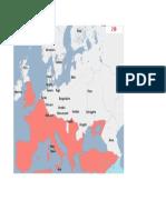 Harta Europa anul 210d.H.