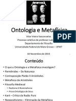 Ontologia e Metafísica - Apresentação e Plano de Aula
