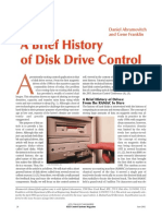 Brief History of Disk Drive Control
