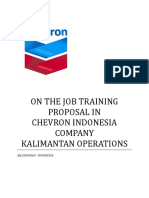 On the Job Training Proposal in PT Chevron Indonesia