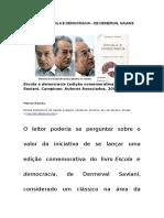 Fichamento - Escola e Democracia