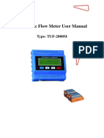 TUF 2000M Ultrasonic Flow Meter User Manual