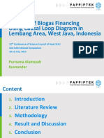 Biogas Financing using Causal Loop Diagram