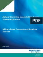Amherst School Staff Survey Comments